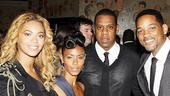 Fela Tony Award Nomination Party  Beyonce  Jada Pinkett Smith  Jay-Z  Will Smith