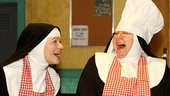 Jeanne Tinker as Sister Amnesia, Bonnie Lee as Reverend Mother and Bambi Jones as Sister Hubert in Nunsense.