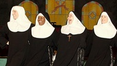 Stephanie Wahl as Sister Leo, Bambi Jones as Sister Hubert, Bonnie Lee as Reverend Mother, Jeanne Tinker as Sister Amnesia and Maria Montana as Sister Robert Anne in Nunsense.