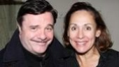 She's not calling him Mr. President anymore! Former November co-stars Nathan Lane and Laurie Metcalf have a happy reunion after her performance in Brighton Beach Memoirs.