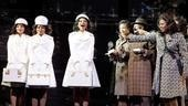 Margaret Hoffman as Michelle Morris, Adrienne Warren as Lorrell Robinson, Syesha Mercado as Deena Jones and the cast of Dreamgirls.