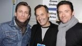 Daniel Craig and Hugh Jackman happily share the spotlight with Frank Conway of Broadway Cares/Equity Fights AIDS.