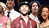 Corbin Bleu as Usnavi and cast in In the Heights.