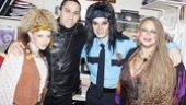 """Where is the Love?"" It's backstage at Rock of Ages with Black Eyed Peas' Taboo and show-stoppers Lauren Molina, Jeremy Woodard and Michele Mais."