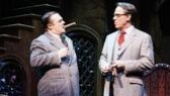 Nathan Lane as Gomez and Terrence Mann as Mal Beineke in The Addams Family.
