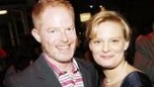 Broadway babes Jesse Tyler Ferguson (currently making a splash on TV's Modern Family) and Martha Plimpton paint the town Red.