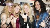 And that's that! Lita Ford rocks out, then peaces out, after one last shot with Jeremy Woodward, Emily Padgett and Constantine Maroulis.