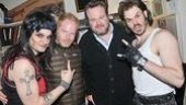 Check out these rocker guys! Ferguson and Stonestreet show off their toughness with Jeremy Woodward and Mitchell Jarvis.