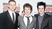"No such thing as a ""Boulevard of Broken Dreams"" tonight. Leading men Stark Sands, John Gallagher Jr. and Michael Esper gather to celebrate their successful Broadway opening."