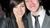 Passing Strange wasn't the only reunion happening. Here John Gallagher Jr. reunites with fellow Spring Awakening alum Krysta Rodriguez…