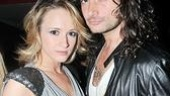 Speaking of Rock of Ages, here come the shows leads Emily Padgett and Constantine Maroulis.
