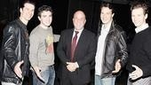 It&amp;rsquo;s Billy Joel and the Four Seasons! Jersey Boys stars Dominic Nolfi, Jarrod Spector, Matt Bogart and Sebastian Arcelus strike a pose.