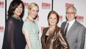 A happy group shot of director Lynne Meadow, Sarah Paulson, Linda Lavin and playwright Donald Margulies.