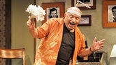 Lou Cutell doesn't just co-star as randy old man Charlie—he's also the show's co-playwright.