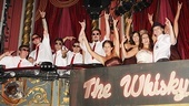 Rock of Ages wedding  bridal party in box seats