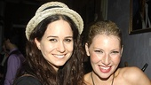 Katherine Waterston knows what Ari Graynor's night is like—she recently had her own opening with Bachelorette at Second Stage Uptown.