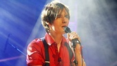 "Reeve Carney swung into the Hudson Theatre to debut ""Boy Falls From the Sky"" from the highly anticipated musical."