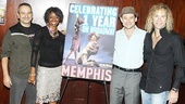 Memphis First Anniversary on Broadway  Joe DiPietro  Chad Kimball  Montego Glover  David Bryan