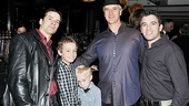 Jersey Boys Fifth Anniversary  Mark Lotito  son Luca  son Giovanni  Dominic Nolfi  Jarrod Spector