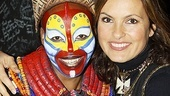 Mariska Hargitay at The Lion King  Mariska Hargitay  Tshidi Manye