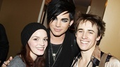 It's one rockin' trio as Jennifer Damiano, Adam Lambert and Reeve Carney huddle together.