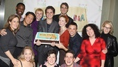 Dear Edwina Opening Night – company with cake
