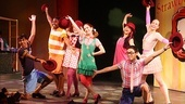 On his opening night in Freckleface Strawberry, Sanjaya Malakar (far left) takes a bow with Remy Zaken and the rest of the cast.