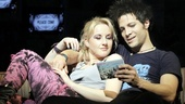 Jeanna de Waal as Heather and Justin Guarini as Will in American Idiot.