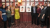 Chad and Montego Sardis caricatures  Montego Glover  Chad Kimball  castmates