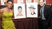 Chad and Montego Sardis caricatures  Montego Glover  Chad Kimball (with portraits)