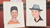 Chad and Montego Sardis caricatures  portraits 