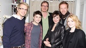 Harry Potter reunion! Freddie Stroma (Cormac McLaggen), David Thewlis (Remus Lupin), Helen McCrory (Narcissa Malfoy), McCrory's actor husband Damian Lewis and Evanna Lynch (Luna Lovegood) congratulate Daniel Radcliffe.