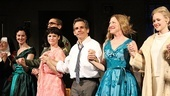 House of Blue Leaves Opening Night  curtain call cast