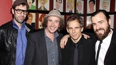 House of Blue Leaves Opening Night  Sacha Baron Cohen  Steve Coogan  Ben Stiller  Justin Theroux