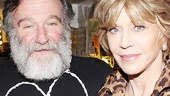 Robin Williams is thrilled to welcome Jane Fonda to the backstage Zoo at Bengal Tiger.