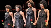 In costume as the Shirelles, Crystal Starr, Kyra Da Costa, Erica Ash and Christina Sajous take a bow.