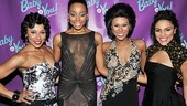 Meet the Shirelles! Kyra Da Costa, Erica Ash, Christina Sajous and Crystal Starr look perfectly glam on opening night.