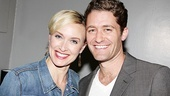 Next up for a photo with Matthew Morrison is Rachel de Benedet.