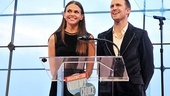 Presenters Sutton Foster and Gavin Creel recall their 2002 win as Favorite Onstage Pair for Thoroughly Modern Millie.  