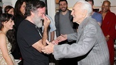 Kirk Douglas congratulates Robin Williams on his Broadway debut performance.