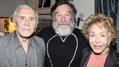 Bengal Tiger star Robin Williams gets a backstage visit from acting legend Kirk Douglas and his wife of more than 56 years, Anne.