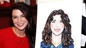 Annabella Sciorra goes head to head with her brand new Sardi's portrait.