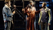 Adam Chanler-Berat as Mark Cohen, 	Nicholas Christopher as Tom Collins and 	Ephraim Sykes as Benjamin Coffin III in Rent.