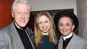 Bill and Chelsea Clinton hang out backstage with Broadway vet Joel Grey.