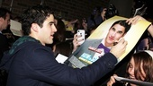 The newly minted How to Succeed star sure is popular at the stage door!