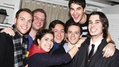 Darren Criss reunites with Team StarKid members Joseph Walker, Dylan Saunders, Meredith Stepien, Corey Lubowich, Brian Holden and Joey Richter.