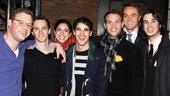 Criss and Team StarKid members Dylan Saunders, Brian Holden, Meredith Stepien, Joseph Walker, Brant Cox and Joey Richter take a company photo.