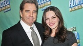 Beau Bridges, who had his first official performance last month, takes a photo with How to Succeed co-star Tammy Blanchard.