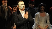 Hugh Panaro makes a phabulous speech while Trista Moldovan and the cast look on.