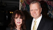 Sardis honcho Max Klimavicius presents Tony winner Stockard Channing with her caricature. 